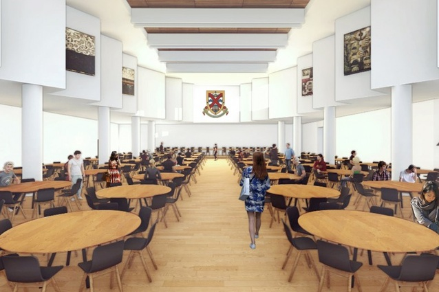 The proposed Bruce Hall dining hall by Nettletontribe.