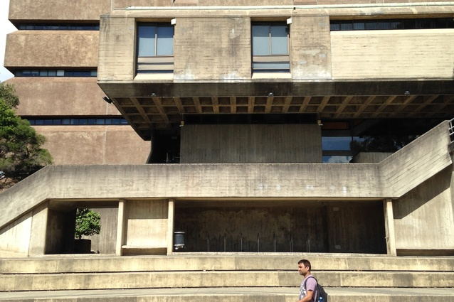 School of Molecular Bioscience (G08) at the University of Sydney, designed by Stafford Moor and Farrington in 1970–73.