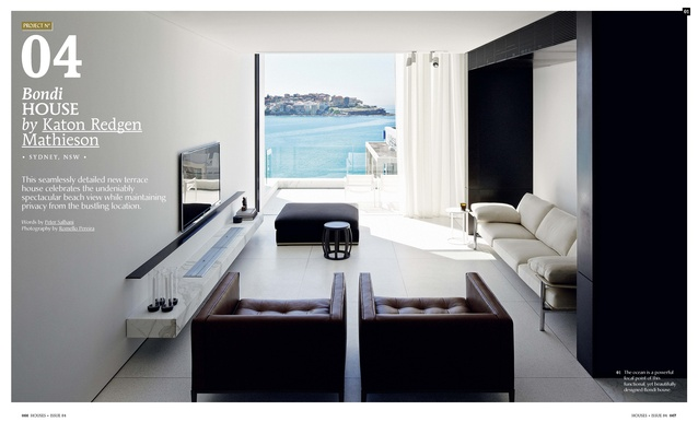 A preview from the magazine: Bondi House by Katon Redgen Mathieson.