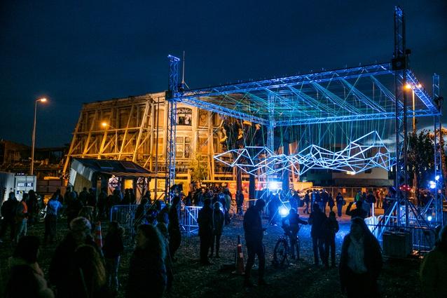 Unitec 'Influx', part of Studio Christchurch, CityUps, FESTA 2014.