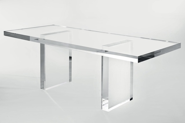 Invisible table by Tokujin Yoshioka for Kartell.
