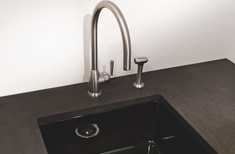 Acquello black fireclay sink