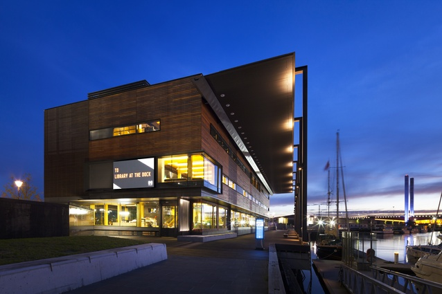 Library at The Dock by Clare Design + Hayball (Architect of Record).
