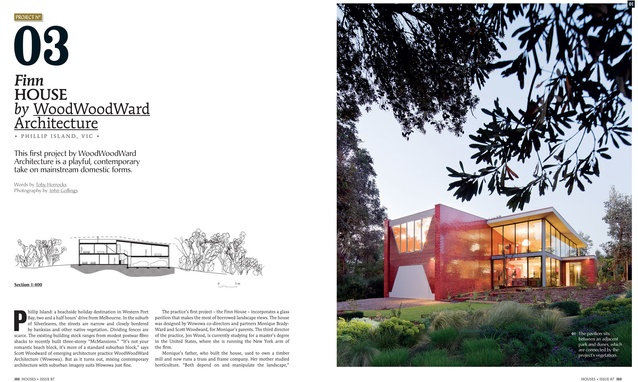 A preview from the magazine: Finn House by WoodWoodWard Architecture.