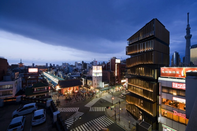 Asakusa Culture Tourist Information Center by Kengo Kuma and Associate, 2012.