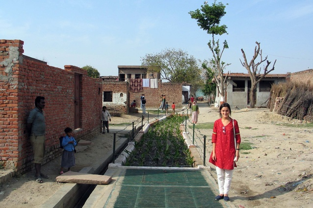 Decentralized sanitation system, near New Delhi, India.