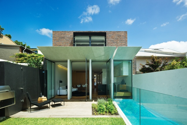 At Paddington House 2, the small backyard features a plunge pool along the western boundary.