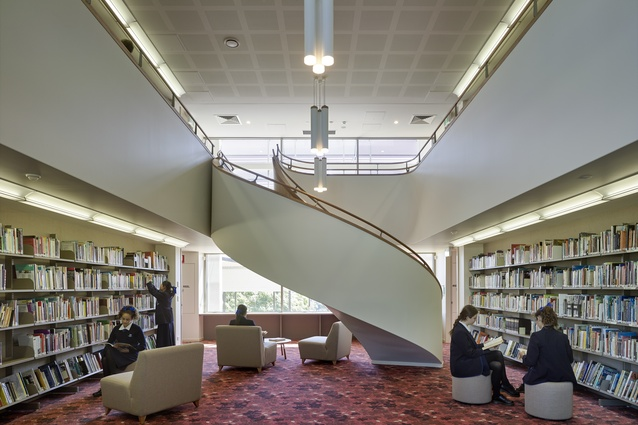Brisbane Girls Grammar School Research Learning Centre Interior by M3 Architecture.