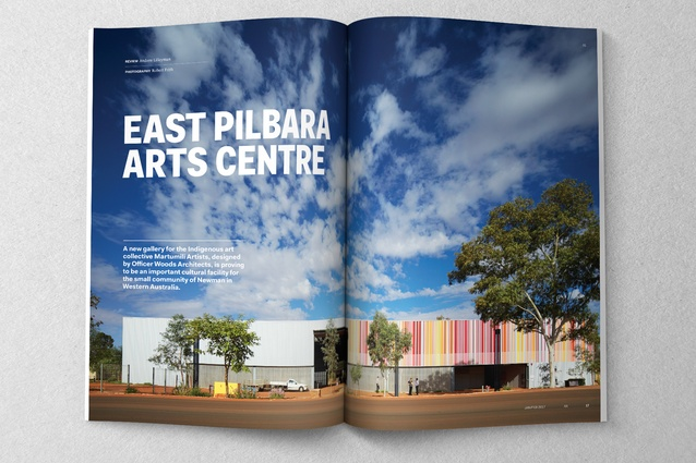 East Pilbara Arts Centre designed by Officer 	Woods Architects.