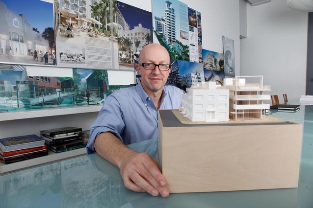 Allan Shulman in his office in Miami's Design District.