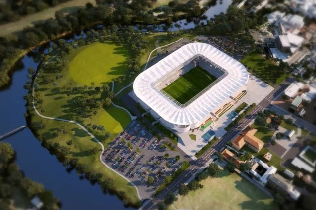 The Western Sydney Stadium designed by Populous.