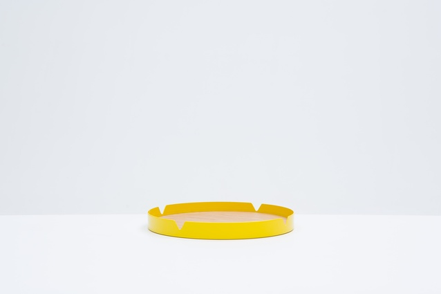 Press Tray in Schweppes Yellow | 