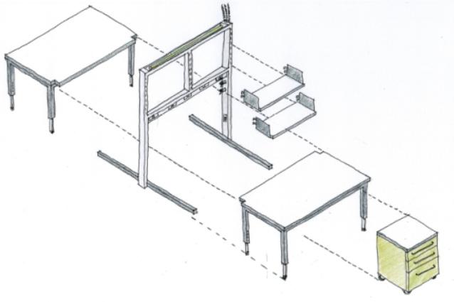 SAHMRI bench concept system.