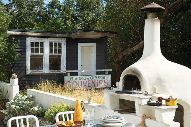 """Pizza oven: """"Cooking in a wood-fired oven is probably the most enjoyable way to cook, plus it makes everything  tastes amazing; not just pizza,"""" says Brian. """"We use it year round and the whole process of lighting the fire and cooking the food is satisfying in a primeval kind of way."""