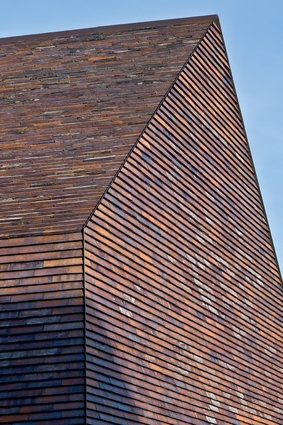 The renovation and expansion of Sorø Art Museum. Simple building forms are coated with specially formulated brick shells, which relate to the traditional masonry.
