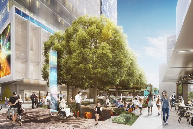 The draft Parramatta Civic Link Smart Hub by Aspect Studios and SJB.