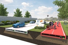 Path to sustainability: plastic roads