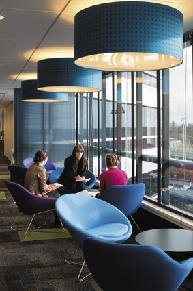 Break-out seating orientated towards natural light and views.