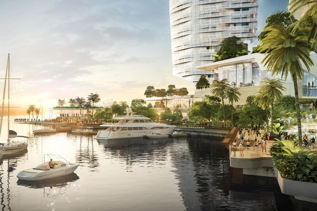 The proposal for the Gold Coast Integrated Resort designed by Blight Rayner.