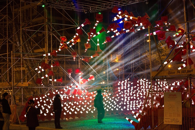 An installation by the University of Auckland's Team Antigravity on display at FESTA 2014.