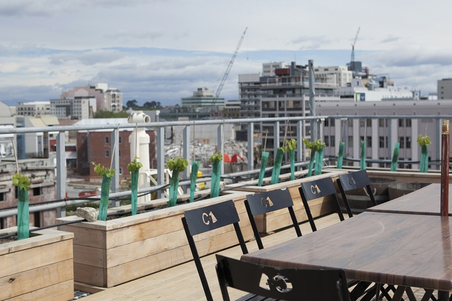 Views from C1's rooftop terrace.
