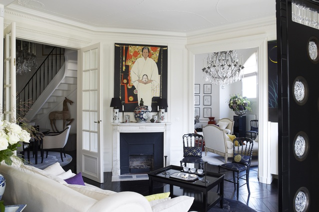 The two chandeliers were made by Mathieu Lustrerie in Provence and are among Kenzo's favourite objects in the apartment.