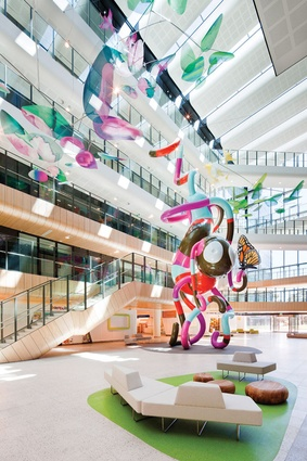 The Royal Children's Hospital designed by Billard Leece Partnership and Bates Smart.