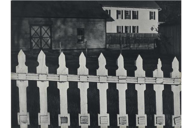 <em>White Fence, Port Kent, New York</em>, 1916.