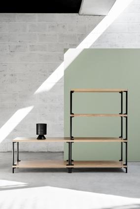 Adam Cornish's Frame modular shelving system.
