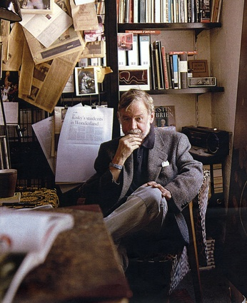 Peter Corrigan in his library.