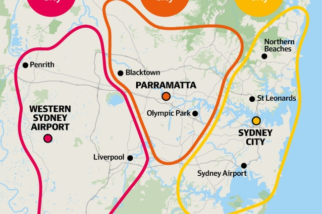 The Greater Sydney Commission has outlined a three-cities approach for Sydney's future, Eastern City centred on the CBD, Central City centred on Parramatta and Western City centred around a new airport in the west.