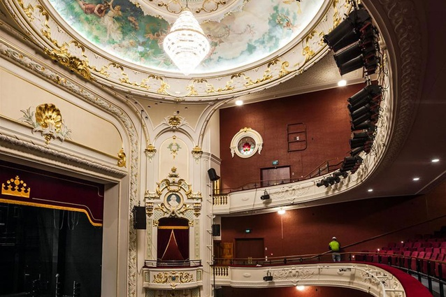 Finalist: Craftsmanship – Conservation of the painted dome ceiling in the Isaac Theatre Royal (Christchurch) by Studio Carolina Izzo.