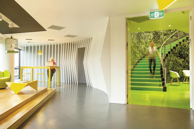the ddb office makeover spans five floors of a central auckland office building and showcases amazing ddb office interior