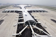 Eye-catching airport for Chinese city