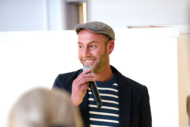 Adam Goodrum at the AGxCult collection launch party at the Cult showroom, Parnell, Auckland.