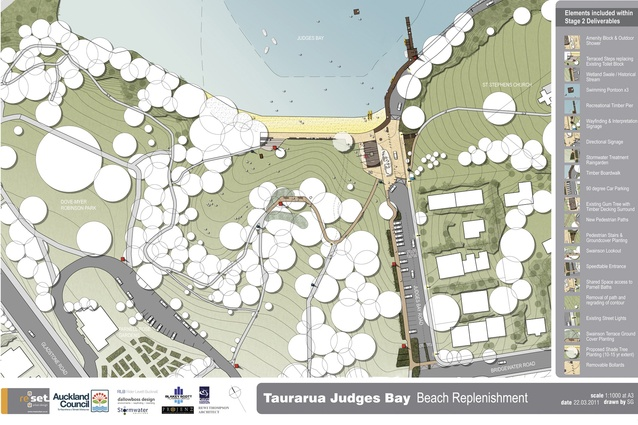 The masterplan for the Taurarua Judges Bay replenishment.