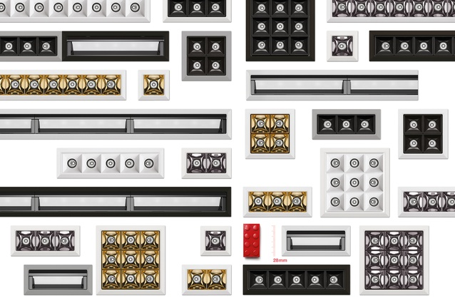 Different configurations of the ultra-small Laser Blade XS downlight, or 'The Blade'.
