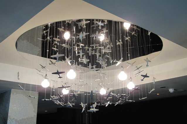 The Hurricane Chandelier by George Singer in the lobby of the South Place Hotel, London.