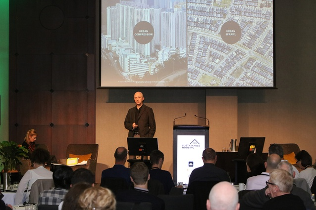James Legge, director of Six Degrees Architects in Melbourne, discusses the Nightingale model at the NZGBC Sustainable Housing Summit 2016.