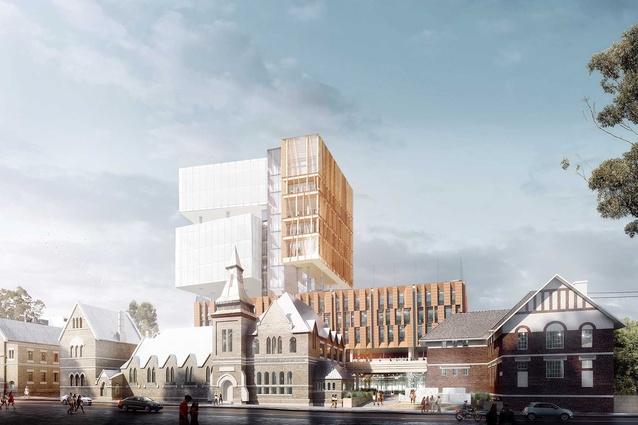 The proposed Inner Sydney High School designed by FJMT.