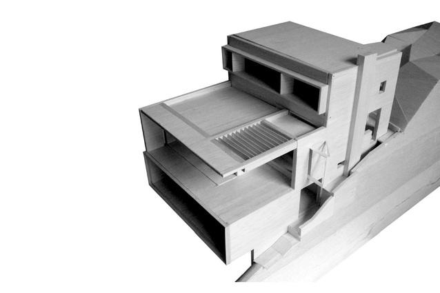 A model of the Castlecrag House.