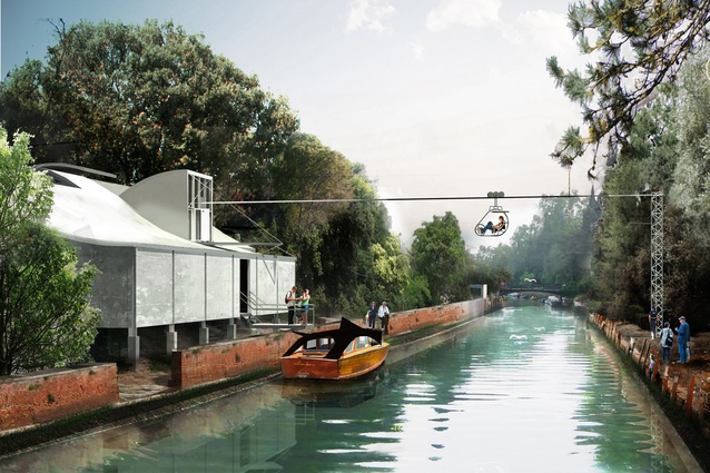 A water-taxi ride around the Giardini. <em>Exhibitor team: Richard Goodwin</em>