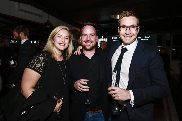 L to R: Emma Campbell and Andrew Campbell of the Tooth Company, Bodie Maxcey of Herbst Maxcey Metropolitan Architects.
