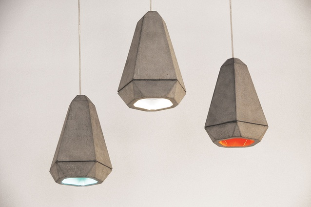 Portland concrete pendant lamps from Innermost.