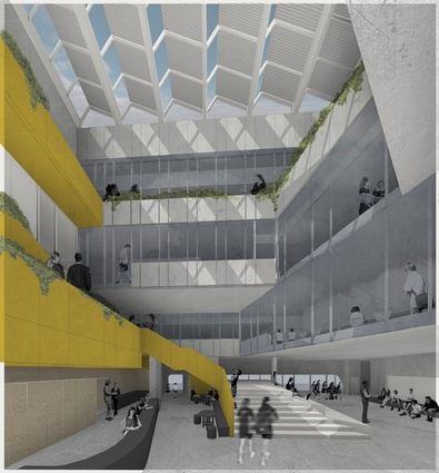 The atrium of the proposed Richmond High School designed by Hayball.