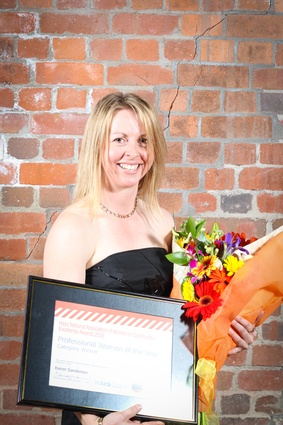 Winner of the Professional Woman of the Year Award (professional category): Karen Sanderson from Beca.