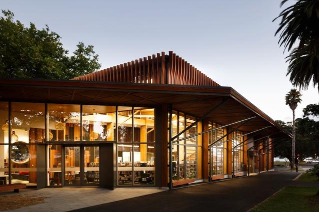 Devonport Library (Te Pātaka Kōrero o Te Hau Kapua) by Athfield Architects Limited.