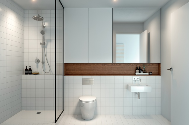 Render of a bathroom in SKHY.