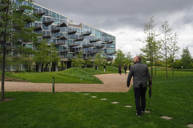 VM Houses by Bjarke Ingels Group and JDS Architects, Ørestad, Copenhagen (2005).