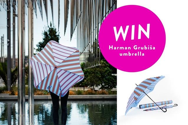 Be in the draw to win a Harman Grubiša umbrella